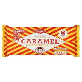 Tunnock's Caramel Wafer Biscuits 8 Pack