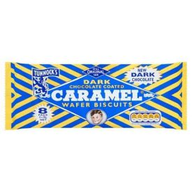 Tunnock's Dark Chocolate Caramel Wafer 8 Pack